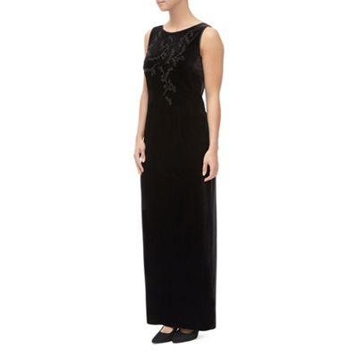 Jacques Vert Beaded Velvet Maxi Dress