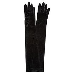 Jacques Vert - Long Velvet Evening Gloves