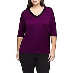 Windsmoor - Fuschia Embellished Sweater