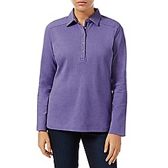 Dash - Lilac Marl Plain Rugby Top