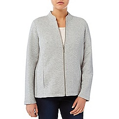 Dash - Zig Zag Quilt Grey Marl Jacket