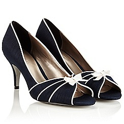 Jacques Vert - Piping Detail Peeptoe Shoe