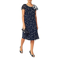 Jacques Vert - Brushstroke spot layers dress