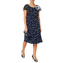 Jacques Vert - Brushstroke spot layers dress