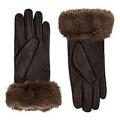 Jacques Vert - Faux Fur Trim Glove
