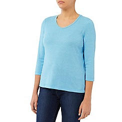 Dash - Plain Woven Neck Trim Top