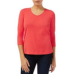 Dash - 3/4 Sleeve Soft V Neck Top