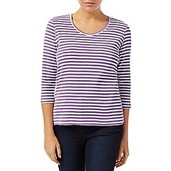 Dash - 3/4 Sleeve  Stripe Soft V Neck
