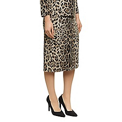 Precis Petite - Animal Print Knitted Skirt