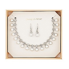 Jacques Vert - Pearl Diamante Jewellery Set