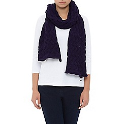 Dash - Chunky Knit Scarf Purple