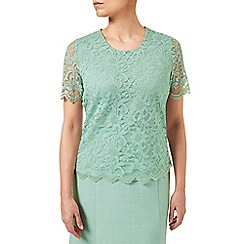 Eastex - Mint Wash Lace Top