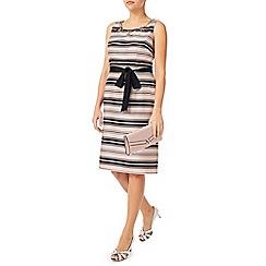Jacques Vert - Stripe And Embellished Dress
