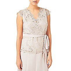 Jacques Vert - Elegant Lace Stretch Mesh Top