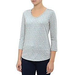 Dash - Grey Marl Tile Print Top