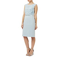 Precis - Aqua Lace Bodice Shimmer Dress