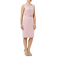 Precis - Pink Lace Bodice Shimmer Dress
