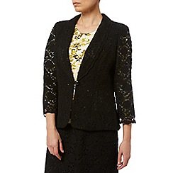 Eastex - Shawl Collar Lace Jacket