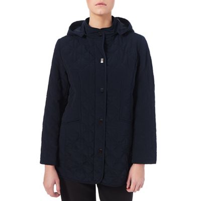 Eastex Hooded Diamond Leaf Raincoat - . -