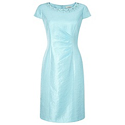 Precis Petite - Aqua Embellished Shimmer Dress
