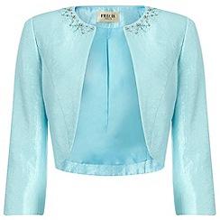 Precis Petite - Aqua Embellished Bolero
