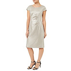 Precis Petite - Oyster Embellish Shimmer Dress