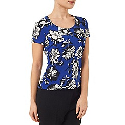 Precis Petite - Ocean Print Scoop Neck Top