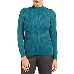 Eastex - Cable wave turtleneck sweater