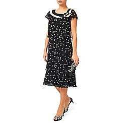 Jacques Vert - Spot Layers Neck Detail Dress