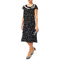 Jacques Vert - Spot Layers Neck Detail Dress