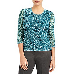 Eastex - Leaf print lace top