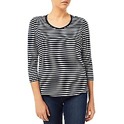 Dash - Stripe Soft V Neck Top