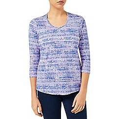 Dash - Feather Print Stripe Top
