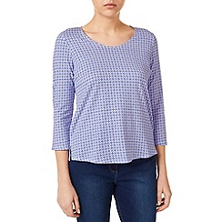 Dash - Mini Tile Print Scoop Neck Top