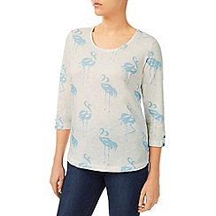 Dash - Flamingo Print Jersey Top