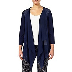 Windsmoor - Chiffon and jersey mix drape cardigan