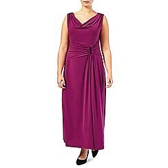 Windsmoor - Raspberry beaded shoulder dress