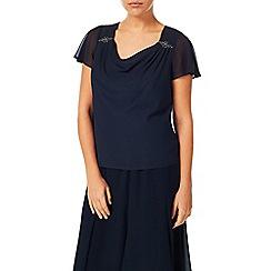 Jacques Vert - Sparkle chiffon drape blouse