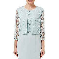 Precis - Aqua Lace Crop Jacket