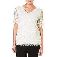 Windsmoor - Ivory Lace Jersey Top