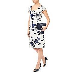 Jacques Vert - Petite Mono Floral Print Dress