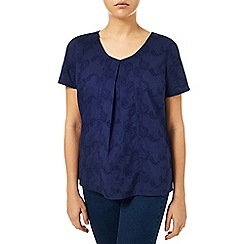 Dash - Broidery Navy Top