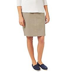 Dash - Stone Chino Skirt