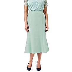 Eastex - Mint Melange Fit & Flare Skirt