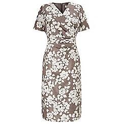 Eastex - Mono Fleur Shantung Dress