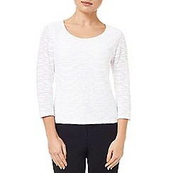 Precis Petite - 3/4 Sleeve textured top