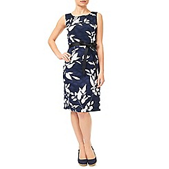 Precis - Navy Clipse Spot Dress