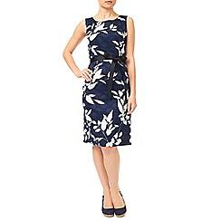 Precis - Navy Clipse Spot Dress
