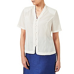 Eastex - Satin Scallop Trim Blouse