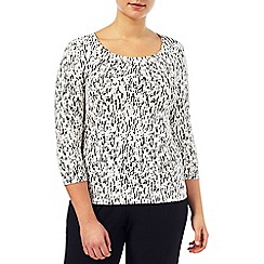 Windsmoor - Monochrome Bark Print Top